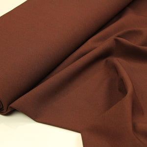 Brown wool fabric with stretch - € 27,5 / m