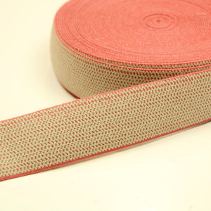 Beige-pink stretch band - € 4,9 / m
