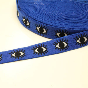 Blue stretch band with eyes - € 5 / m
