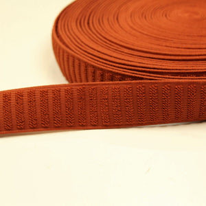 Rust-colored elastic waistband - € 4,2 / m