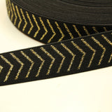 Black elastic waistband with gold - € 5 / m