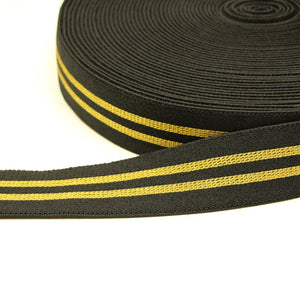 Black stretch band with lines - € 4,6 / m