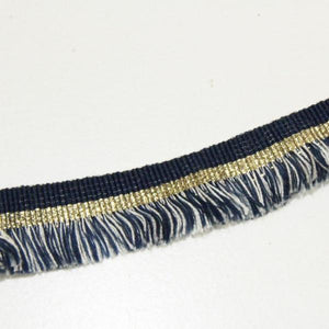 Blue ribbon with fringes - € 2,5 / m