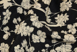 Italian viscose with white floral print - €28,9/m