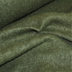 Forest green 'hairy' coat fabric - €27,9/m