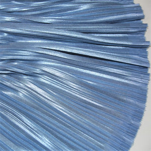-60% Blue shiny pleated blind - € 9,6 instead of 24 / m