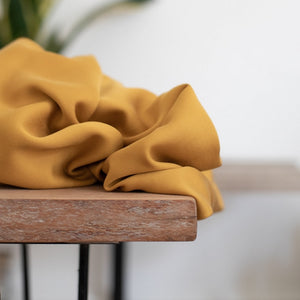 Meet Milk - Ocher colored organic tencel - € 26 / m