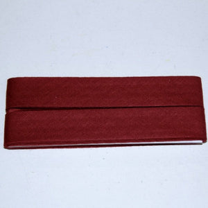 Bias cotton 40 / 20mm burgundy - package of 3,5m - € 3