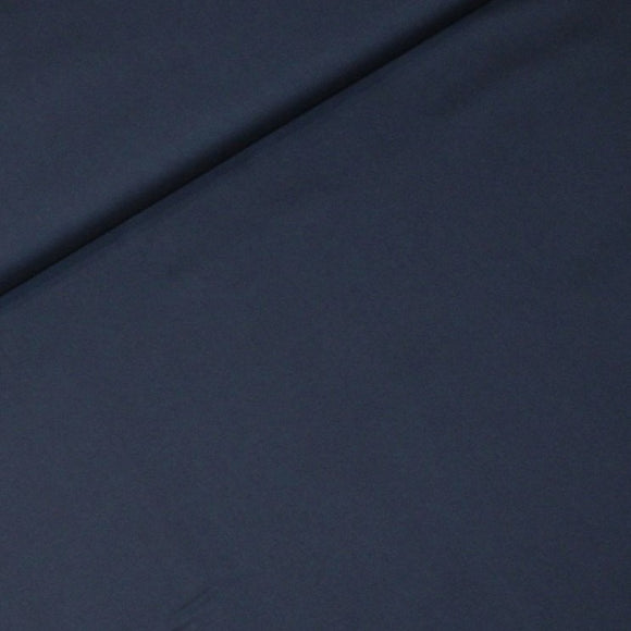 Navy blue organic cotton - € 19,5 / m