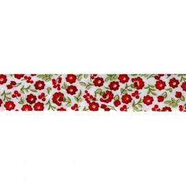 Bias tape with flower motif - € 1,3 / m