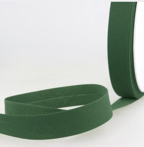 Bottle green bias ribbon - € 0,8 / m