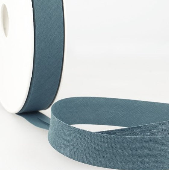Blue-gray bias ribbon - € 0,8 / m