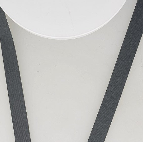 Dark gray matt satin ribbon - € 1,4 / m
