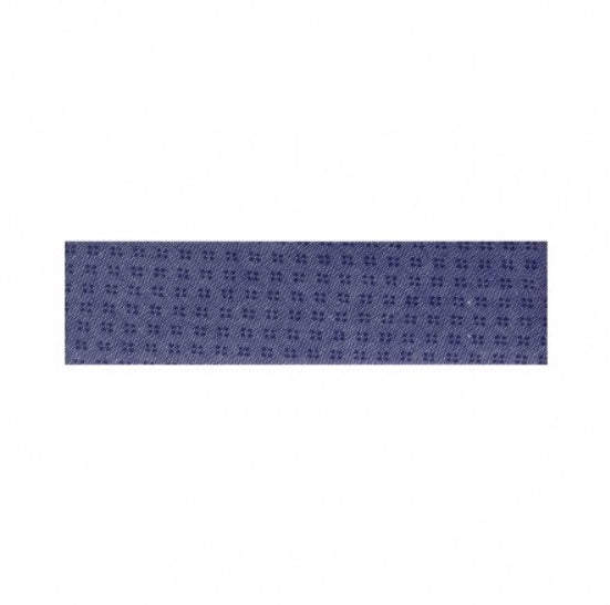 Blue bias ribbon with dots - € 2,3 / m