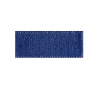 Blue cotton satin ribbon 1cm wide - € 0,8 / m