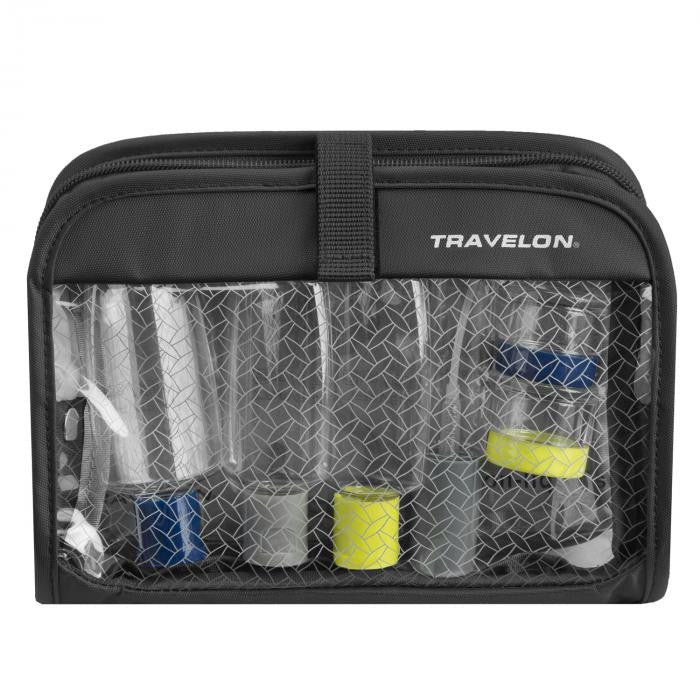 Travelon 1 Quart Bag With Plastic Bottles Wet/Dry #11024