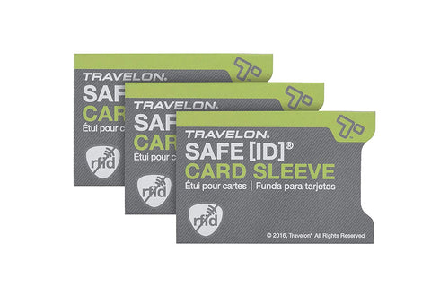 Travelon - RFID Credit Card Sleeves (3-Pack)