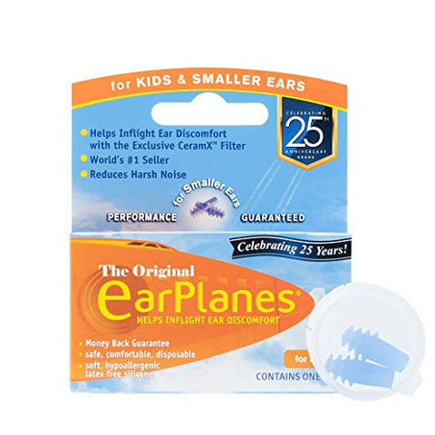 EarPlanes Earplugs for Noise & Ear Discomfort - For Kids