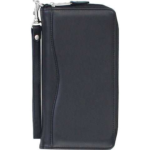 Scully Leather Travel Wallet - With zipper