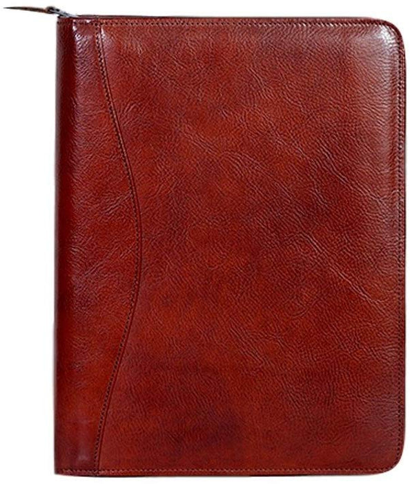 Zip Around Italian Leather Padfolio