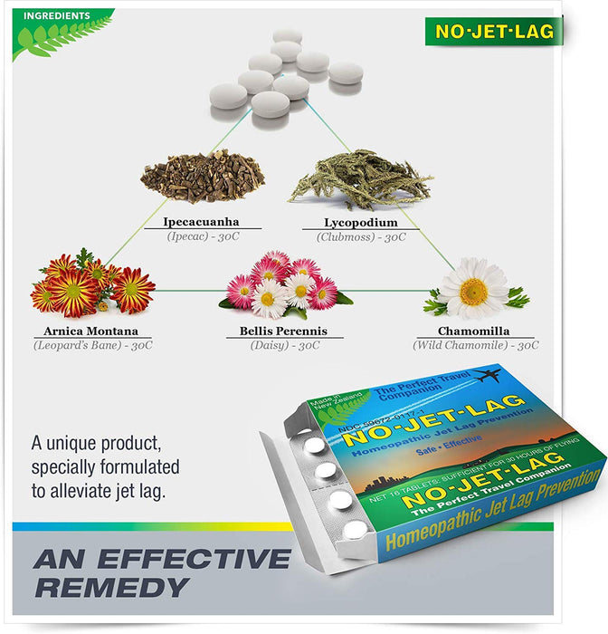 No Jet Lag - Homeopathic Jet Lag Remedy (32 CT.)