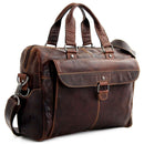 Jack Georges #7316 Voyager Zippered Briefcase With Front Flap Pocket