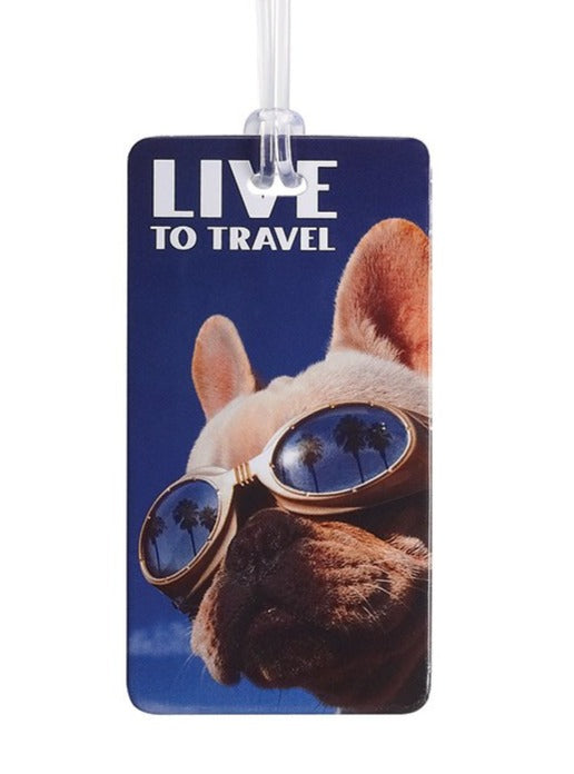 Live to Travel Luggage Tag - #7415