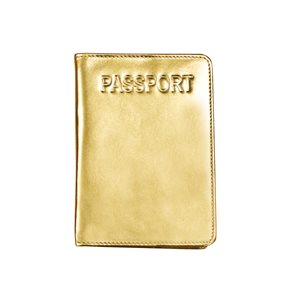 Genuine Leather Passport Holder with RFID