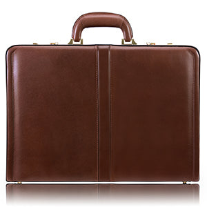 McKlein Leather Attaché Briefcase - Reagan 3.5""