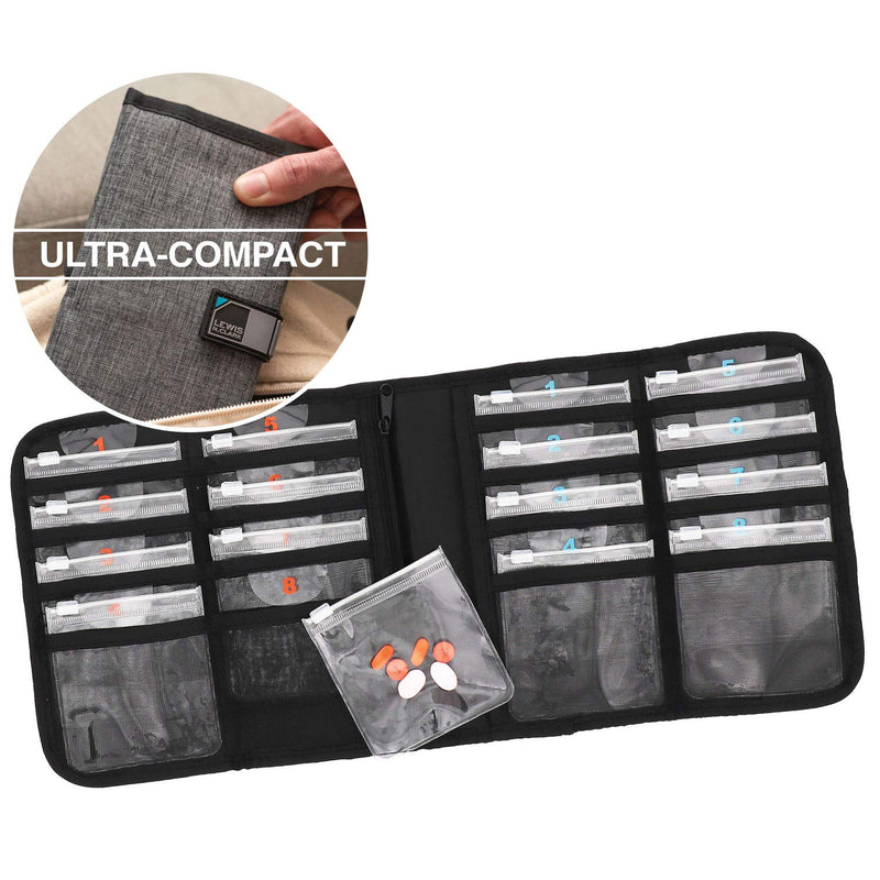 Lewis N Clark AM/PM Deluxe Pill Organizer
