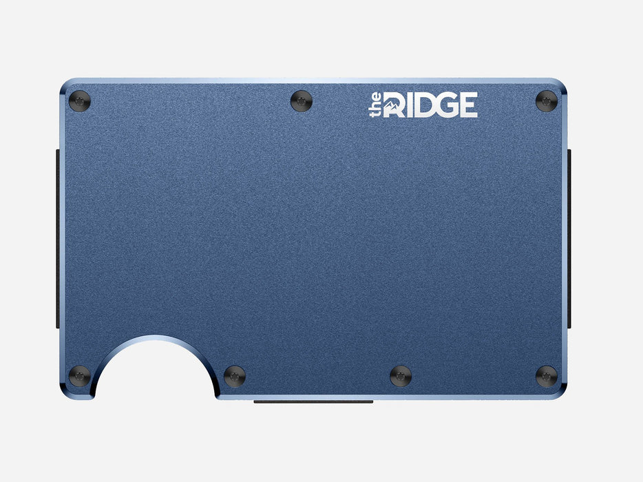 The Ridge Wallet - Aluminum - Navy