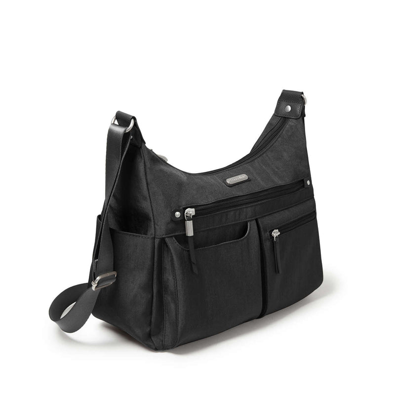 Baggallini Anywhere Large Hobo Tote With RFID Phone Wristlet - AWH335