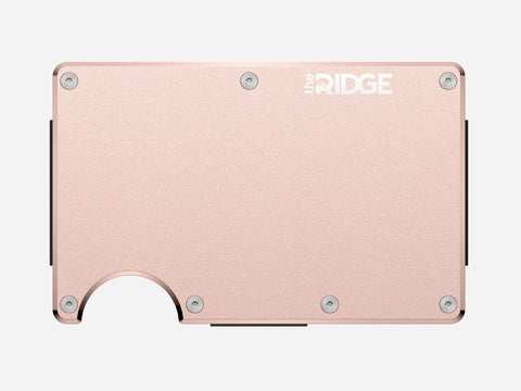 The Ridge Wallet - Aluminum - Rose Gold