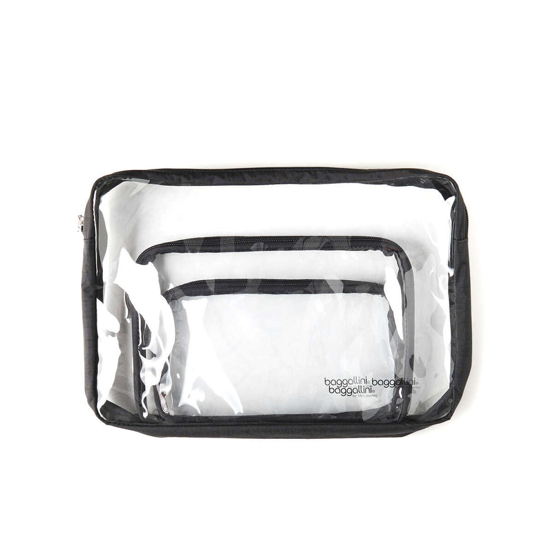 Baggallini Getaway Clear Travel Pouches