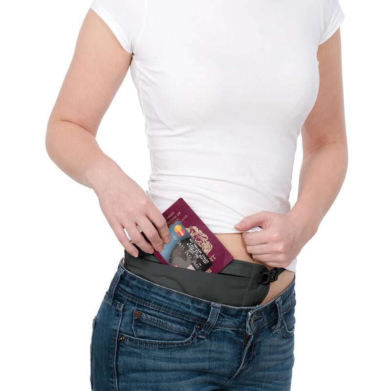PacSafe Coversafe V100 RFID Blocking Waist Wallet Money Belt