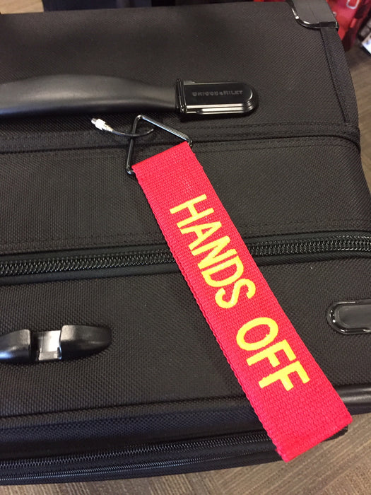 "TudeTag - ""Hands Off"" Luggage Tag Identifier"
