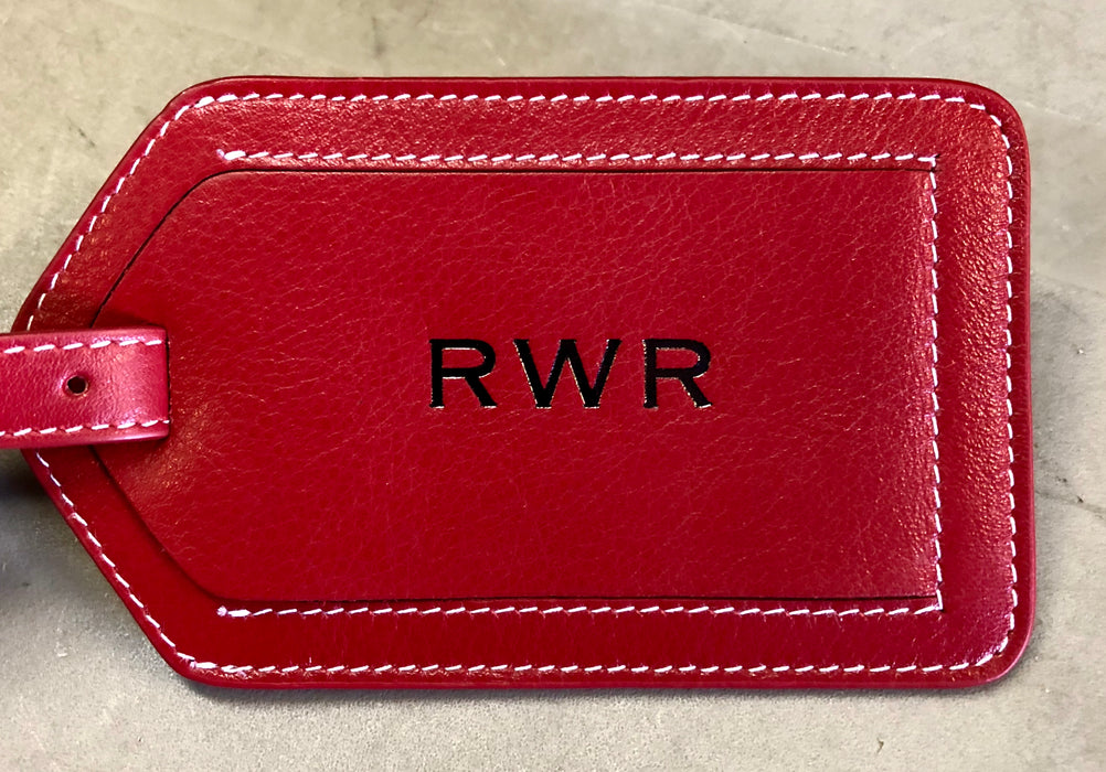 Genuine Leather Luggage Tags (With Custom Monogram Available)