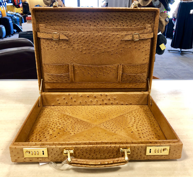 Genuine Ostrich Leather Briefcase