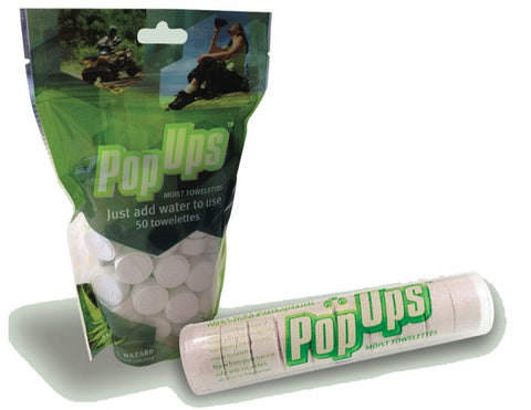 Pop Ups Moist Towelettes - 50 Pack