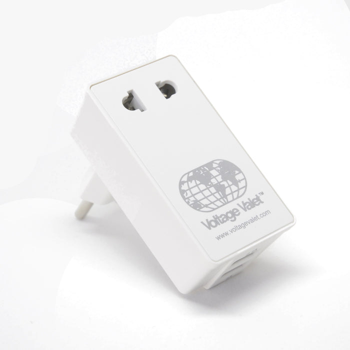 Adaptor Plug With 2 Port USB | Continental Europe - Voltage Valet