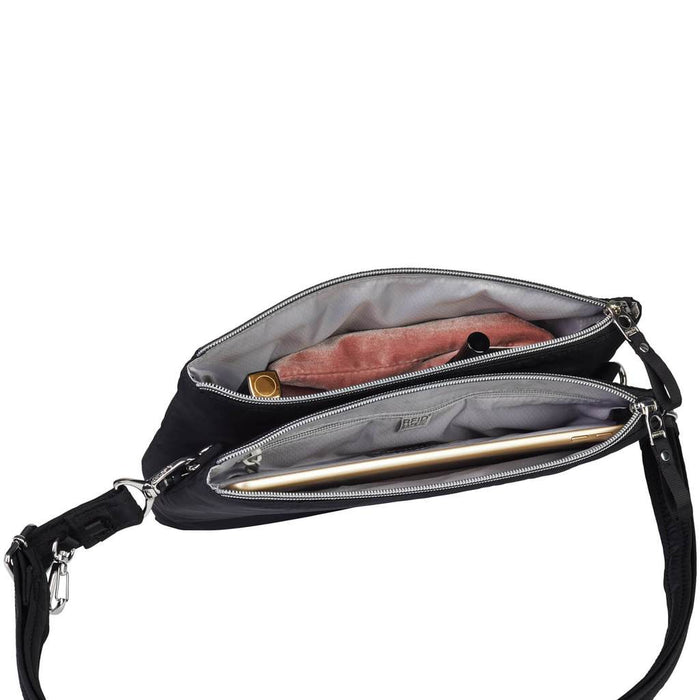 Stylesafe Anti-Theft Double Zip Crossbody Bag #20630