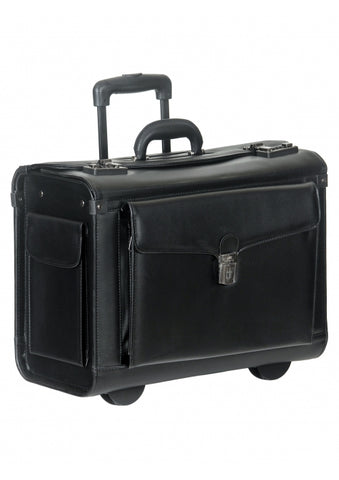 Mancini Wheeled Catalog Case - Simulated Leather