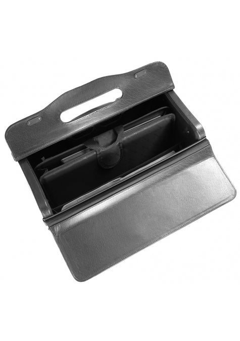 Mancini Wheeled Catalog Case - Genuine Leather