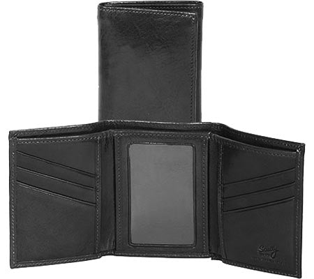 Scully Leather Trifold Wallet