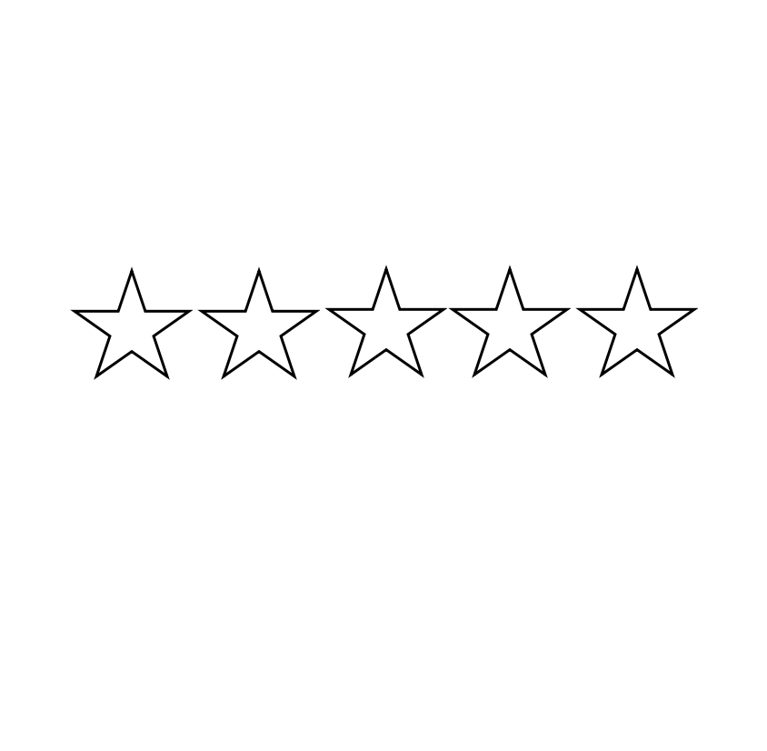 5 star reflection stamp