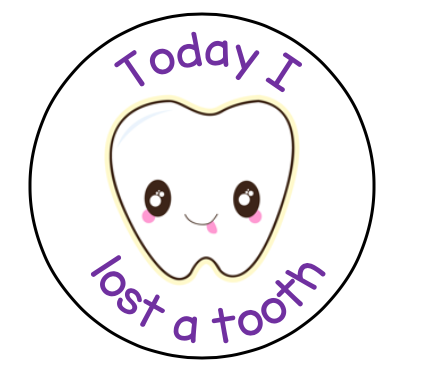 Today I lost a tooth sticker sheet