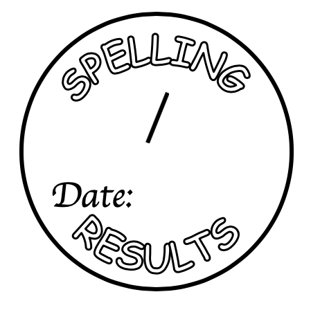 Spelling result stamp