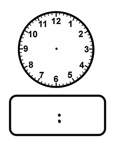 Clock - Time maths stamp set