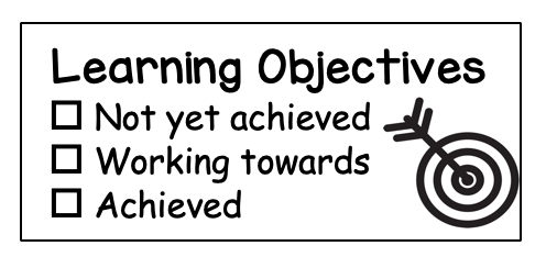 Learning Intention Rectangle Stamp