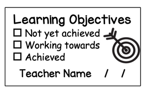 Personalised Learning Intention Stamp (rectangle)